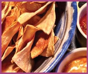 Macaroni Menu: Baked Tortilla Chips