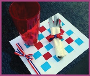 Celebrate Memorial Day! Patriotic Picnic Placemats