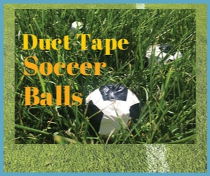Macaroni Crafts ~ Duct Tape Soccer Balls