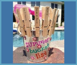 Macaroni Craft:  Create A Summer Bucket List