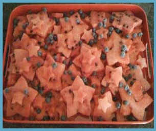 Macaroni Menu:  Star Spangled Watermelon