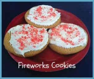 Macaroni Menu:  Sweet Treat ~ Fireworks Cookies