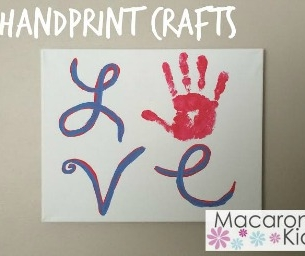 LoVe {Handprint Craft}