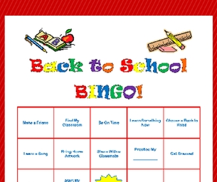 Macaroni Learns:  Back - to - School BINGO!