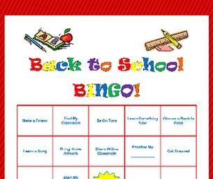 Macaroni Learns:  Back - to - School BINGO!
