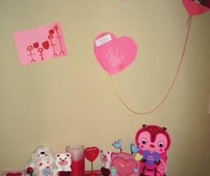 Kid-created Valentine's Space