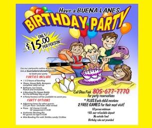 Make Birthday's a Blast at Buena Lanes