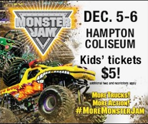 Monster Jam Coming to the Hampton Coliseum This Weekend!