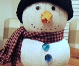 Create a Snowman Pumpkin