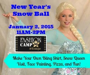 Fashion Camp Presents a New Year's Snow Ball January 2, 2015