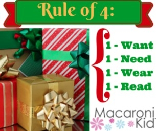 "Gift Giving: The ""Rule of 4"""