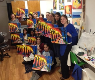 Macaroni Recap: Moms' Night Out at Paint Your Own
