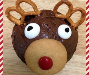 Cute Holiday Treats: Reindeer Cupcakes