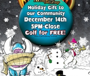 Free Monster Mini Golf - Sunday, December 14 from 5pm-8pm