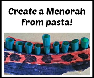 Hanukkah Craft ~ Pasta Menorah