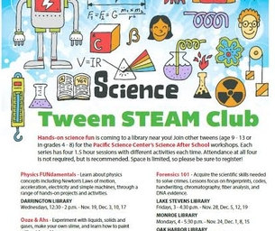 Forensics 101 - Tween STEAM Club at the Oak Harbor Library