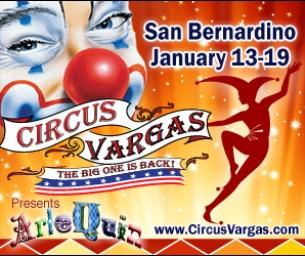 Circus Vargas  Arlequin! is coming to San Bernardino