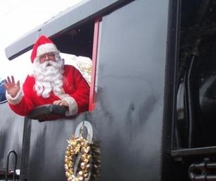 Embark on a magical train ride and visit Santa Claus himself!