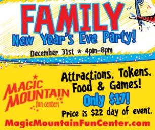 GIVEAWAY: Magic Mountain's Family Fun New Year's Eve Party!