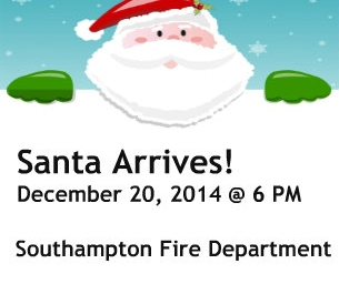 Santa Arrives at The Southampton Fire Department