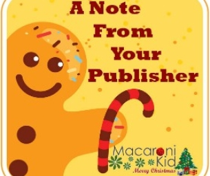 A Quick Note From Your Publisher! December 18, 2014