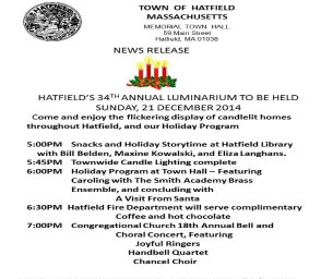 Hatfield's 34th Annual Luminarium