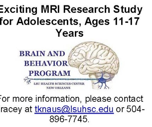 Exciting MRI Research Study for Adolescents