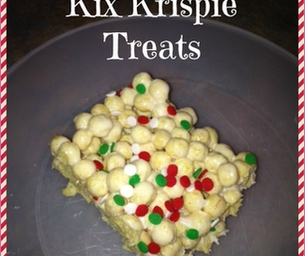 Easy Christmas Kix Krispie Treats!