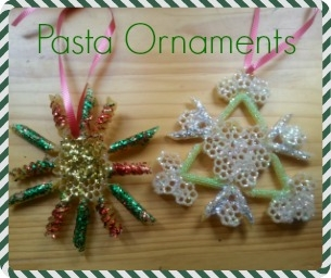 Macaroni Made:  Pasta Ornaments