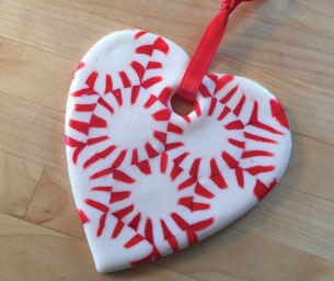 Macaroni Craft: Peppermint Candy Ornaments