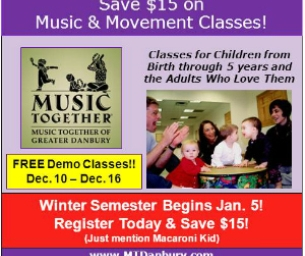 SAVE $15 on Music Together Classes for the Winter Semester!