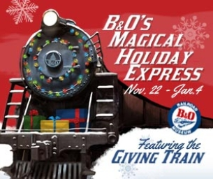 B&O's Magical Holiday Express The Giving Train