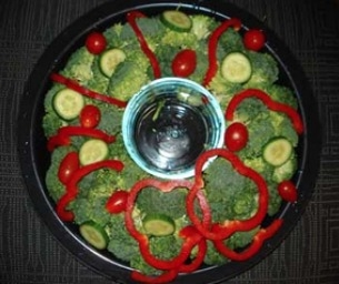 Vegetable Wreath Appetizer