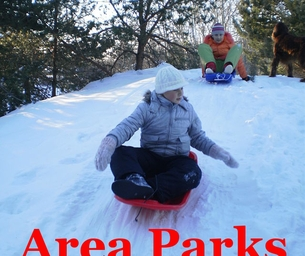 Area Parks, Sledding and Ice Skating!