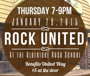 ROCK UNITED from 7-9pm on Thursday, January 29th in Blacksburg