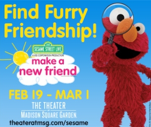 Giveaway and Discount code ~ Sesame Street Live! Make A New Friend!