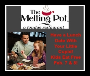 Have a Date With Your Little Cupid at The Melting Pot Feb. 7 or 8