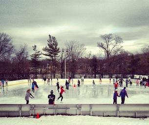 Ice Skating in Clove Lakes