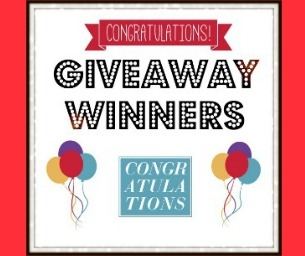 GIVEAWAY WINNERS!!!