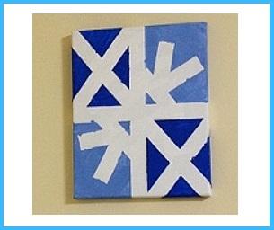Macaroni Kid Creates: Snowflake Paintings