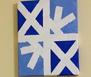 Macaroni Craft ~ Snowflake Paintings