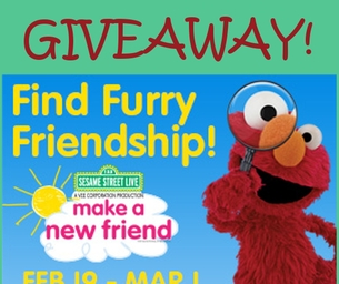 Enter to win a family 4 pack of tickets to see Sesame Street Live!