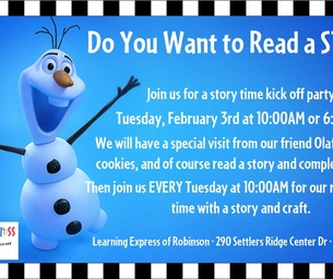 Do You Want to Read a Story? WITH OLAF! Learning Express of Robinson