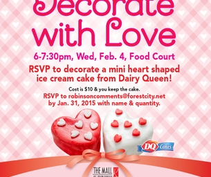 Decorate With Love Valentine Event : Decorate A Mini Dairy Queen Cake