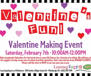 Valentine Making Event- Learning Express of Robinson