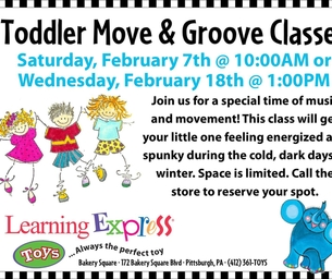 Toddler Move & Groove Classes at Learning Express of Bakery Square
