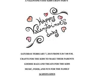 Valentine's Day Kids Craft Party