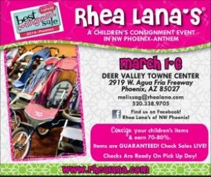 Rhea Lana's Spring Consignment Sale - March 1 thru 6