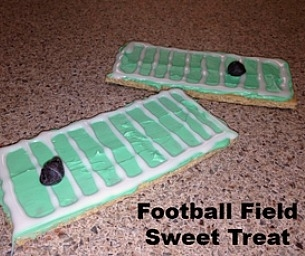 Football Field Sweet Treats