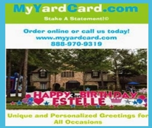 Celebrate Your Special Occassion With a My Yard Card